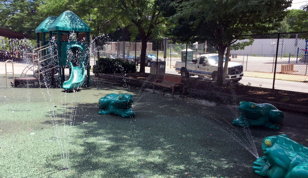 West Chester's splash park features timed sprinklers