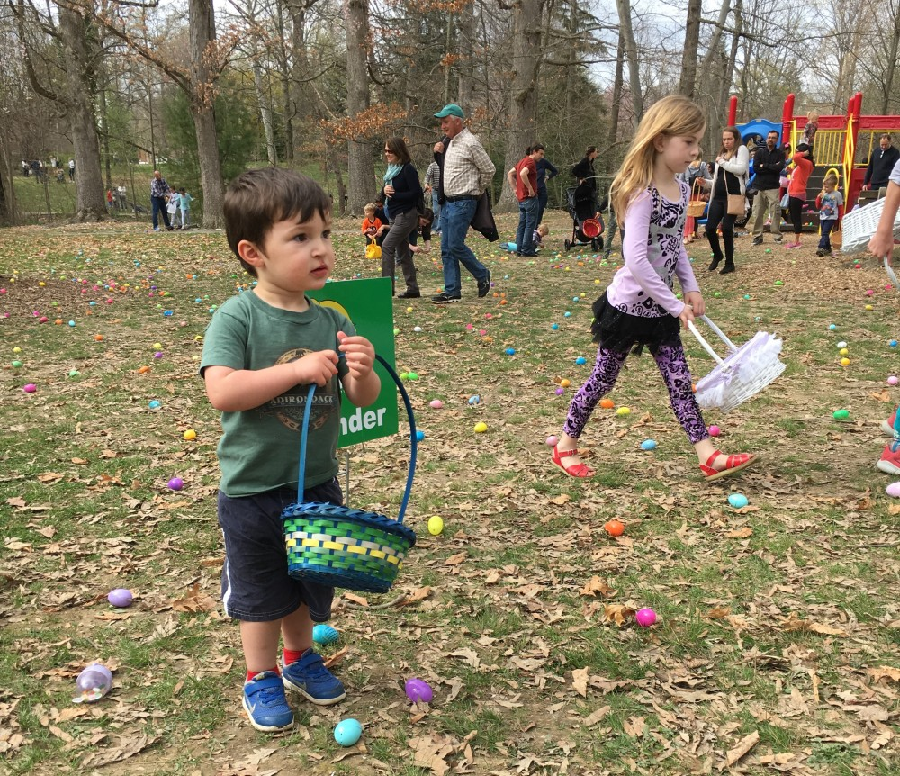 Every spring West Chester Borough holds an Easter Egg Hunt in Everhart Park.