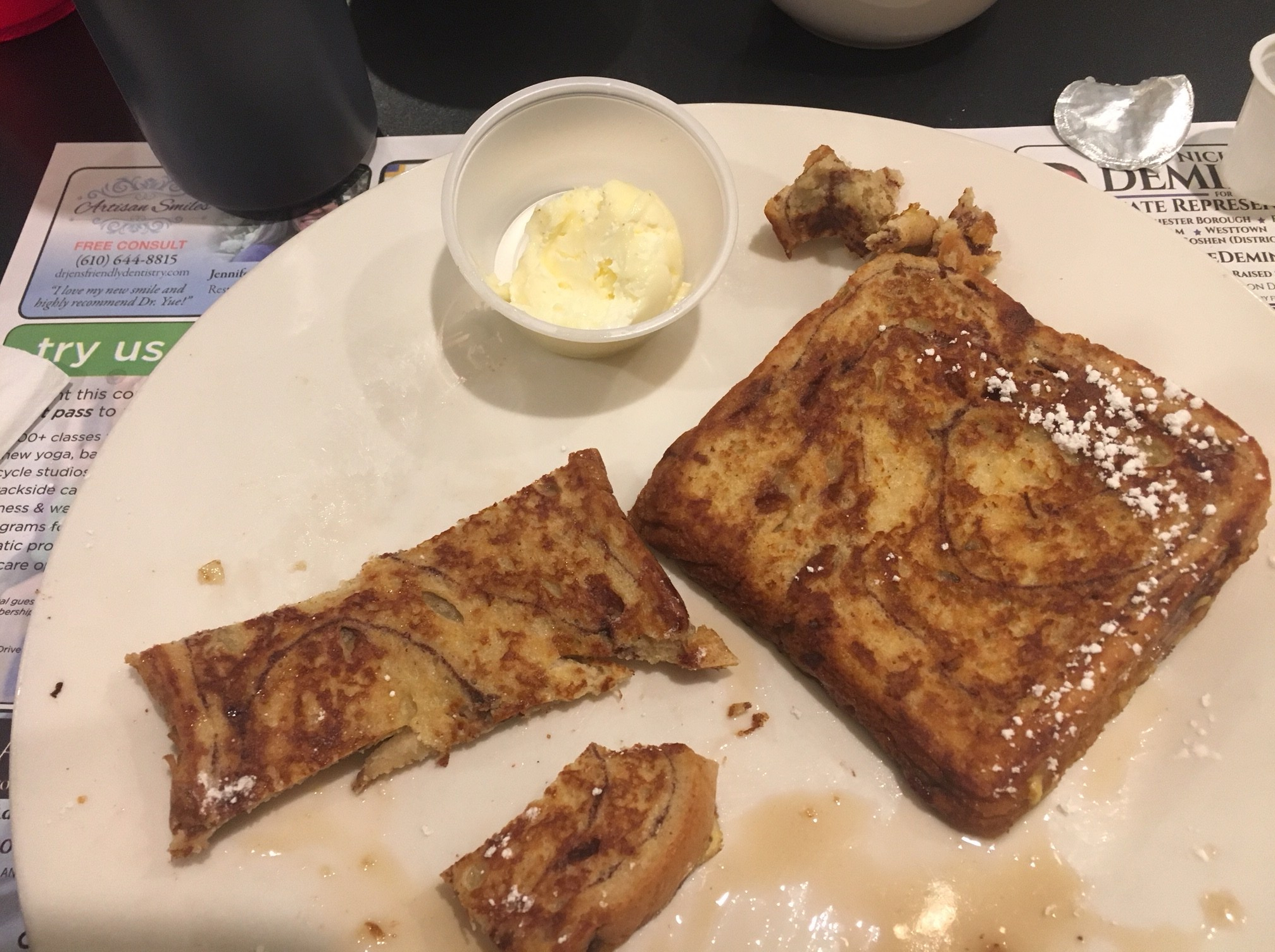 Cinnamon swirl french toast. Market Street Grill, West Chester, PA
