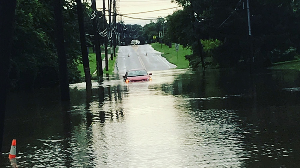 west chester pa roads flooded cars stranded