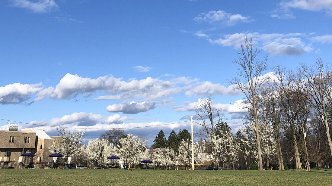 WCU campus spring